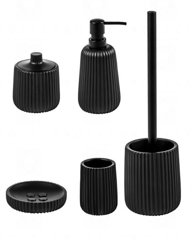 Set completo accessori Plisse d'appoggio, nero opaco