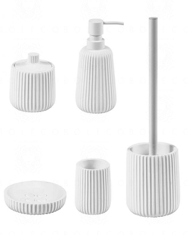 Set completo accessori Plisse d'appoggio, bianco opaco