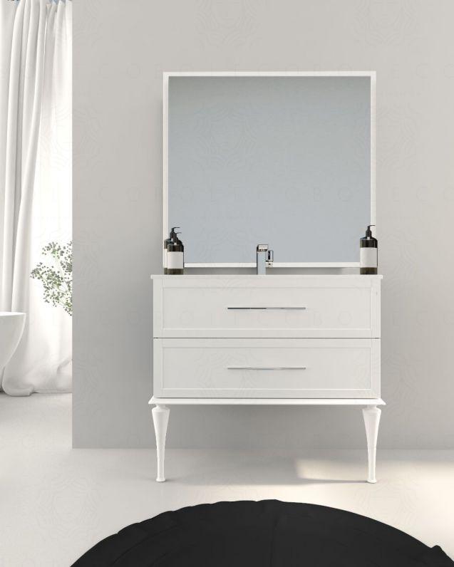 Mobile bagno sospeso Alba con lavabo in ceramica, cm.100
