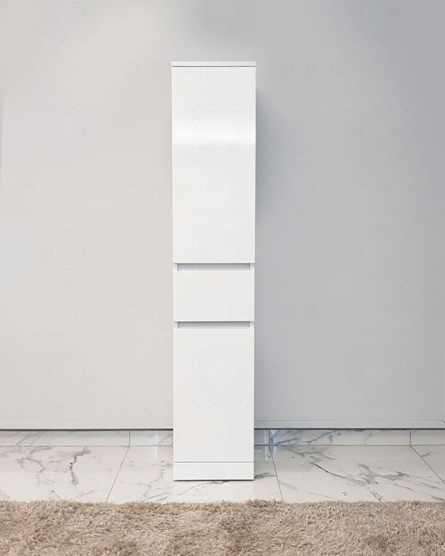 Colonna bagno a terra bianco lucido, cm. 30x156