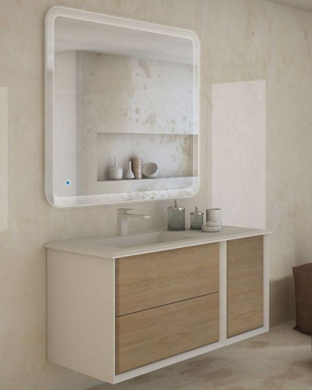 Mobile bagno sospeso Vittoria cm.106, con lavabo in resina