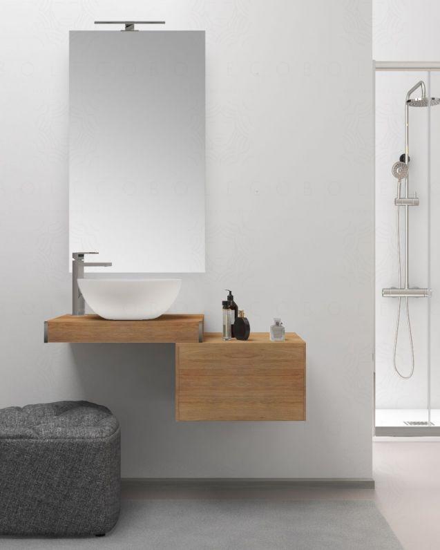 Mensolone bagno cm.60, completo di staffe regolabili, lavabo in