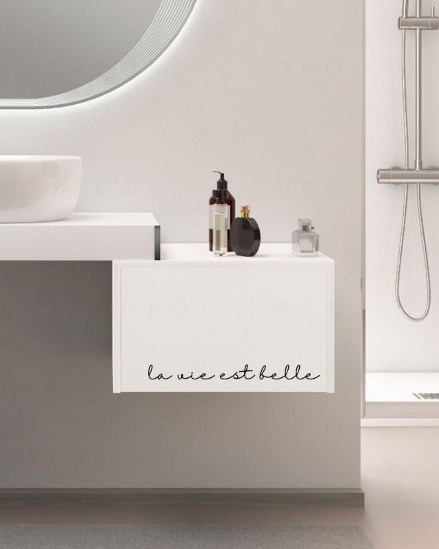 Mobile bagno Mensolone cm.90 e cassettiera 50cm. con stampa