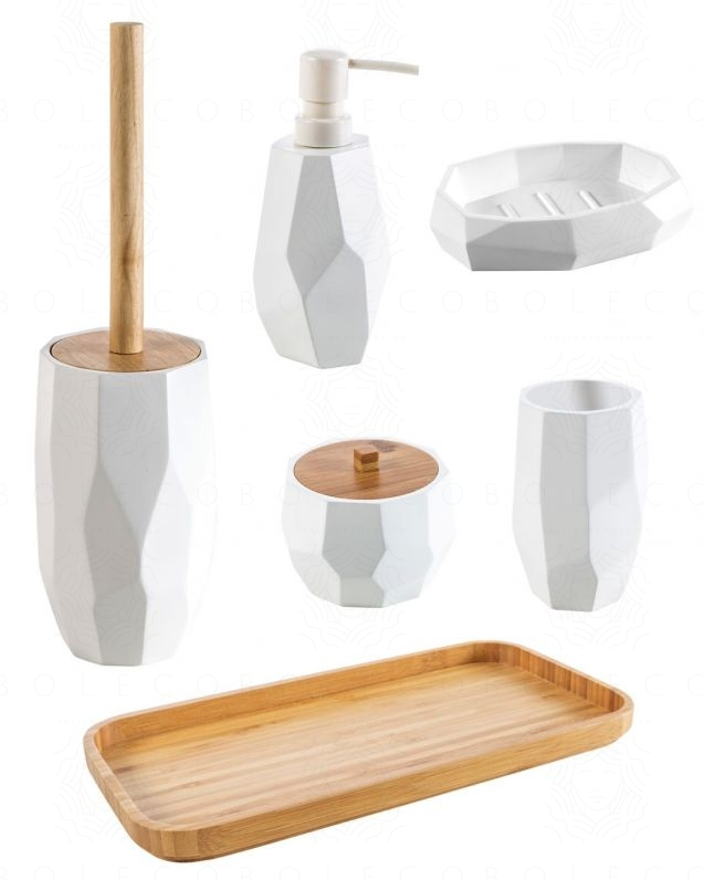 Set completo accessori Surface Bamboo, bianco opaco