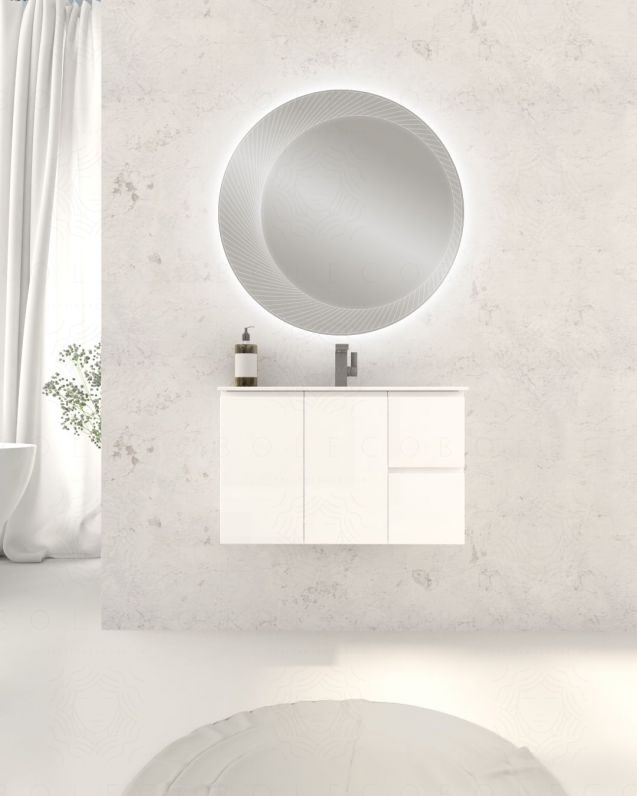 Mobile bagno sospeso Anita cm.80, profondita ridotta, lavabo in