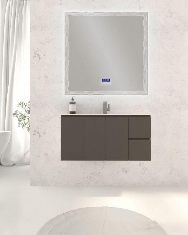 Mobile bagno sospeso Anita cm.100, profondita ridotta, lavabo
