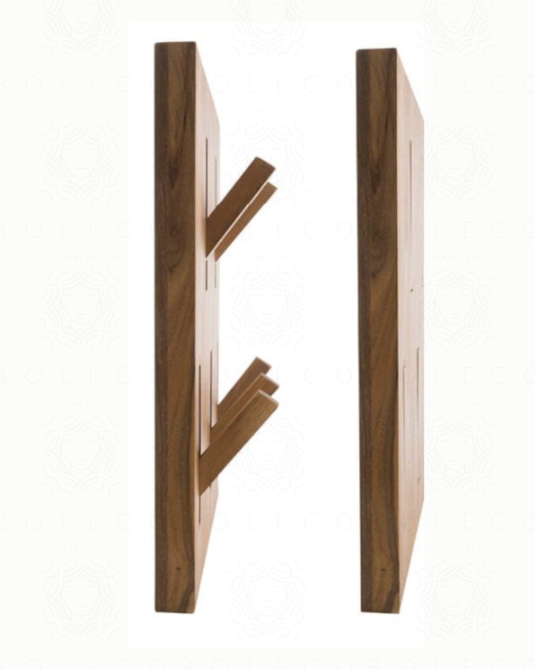 Appendiabiti in legno con 5 gangi estraibili