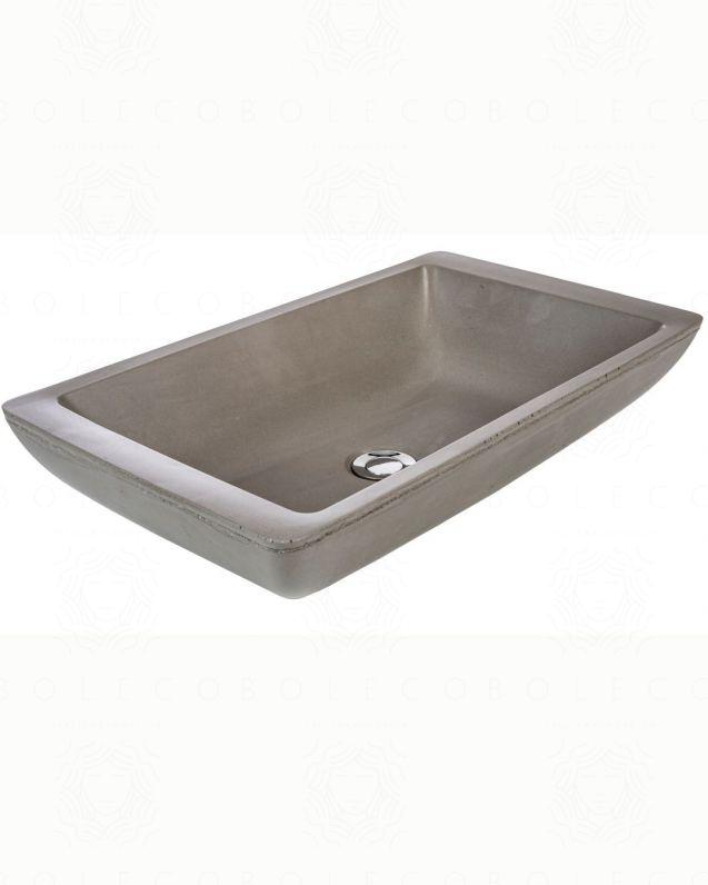 Lavabo di appoggio in cemento lucidato cm.59