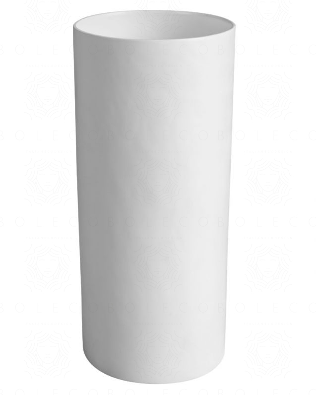 Lavabo freestanding rotondo, cm.40, bianco opaco