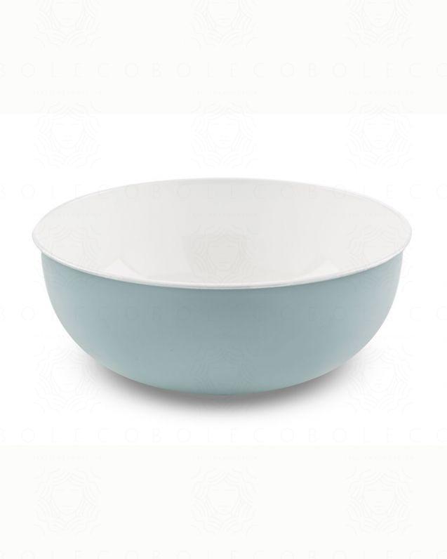 Lavabo di appoggio in metallo azzurro, cm.40