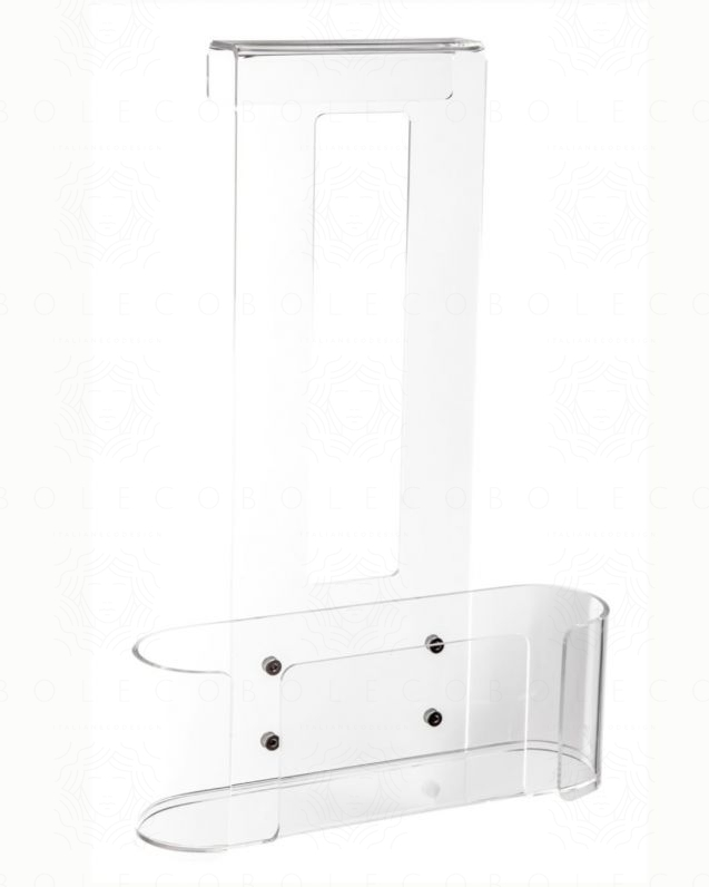 Porta oggetti in acrilico trasparente per doccia
