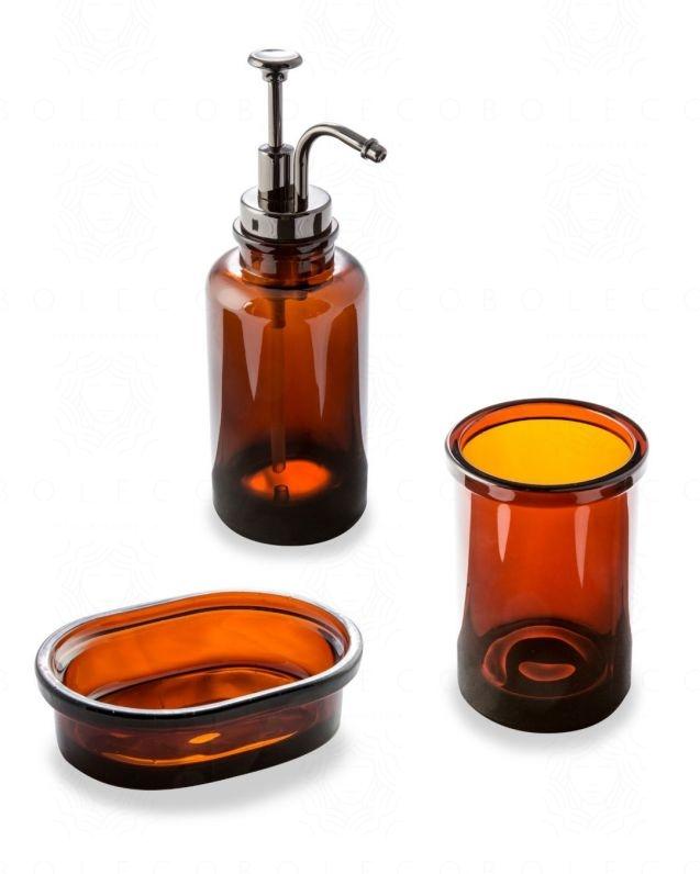 Set accessori Pharmacy Ambra d'appoggio, trasparente, con