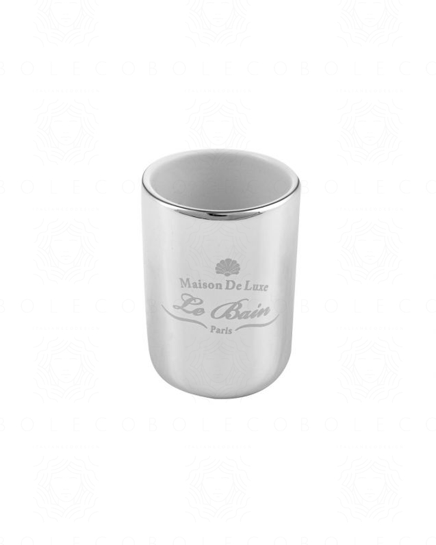 Bicchiere Alchimista, cromo, cm.7x10