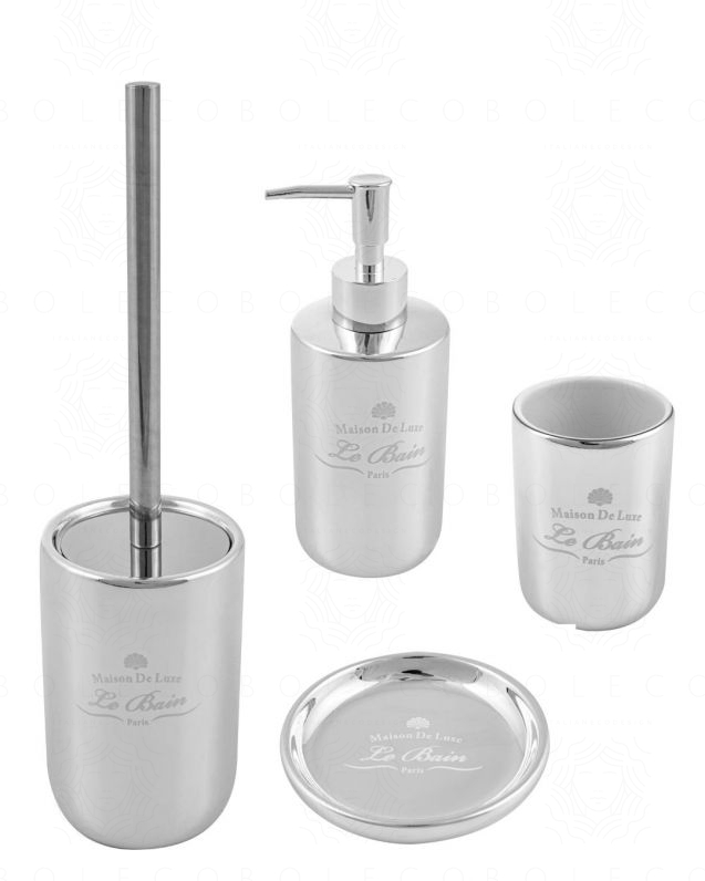 Set accessori Alchimista d'appoggio cromo, con dispenser