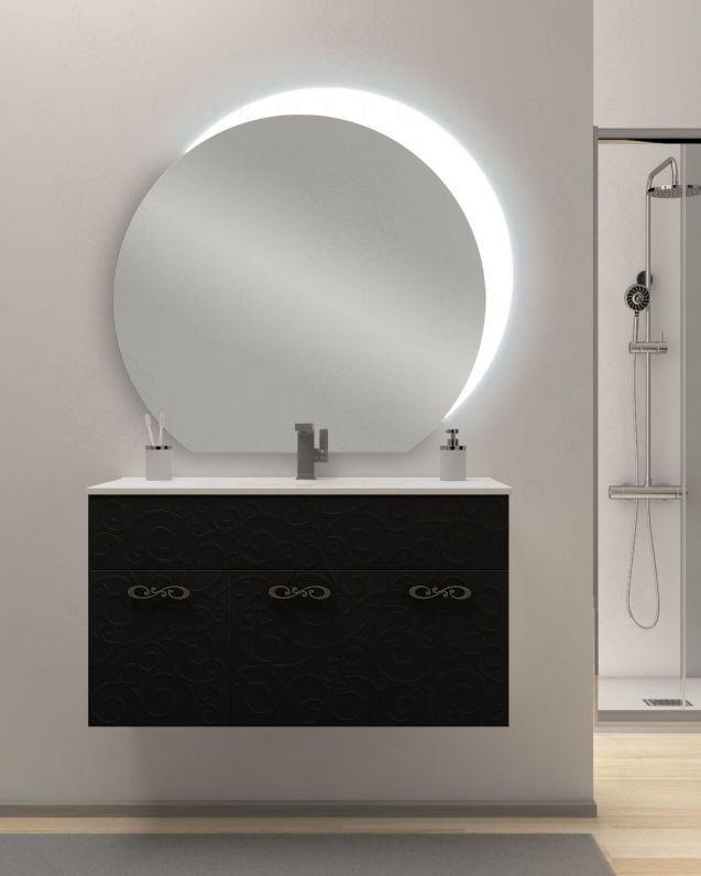 Mobile bagno sospeso Noemi cm.100, con lavabo in ceramica e