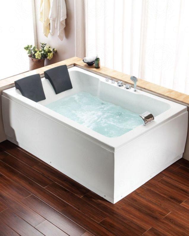 Vasca da bagno idromassaggio rettangolare, cm.180x120, comandi