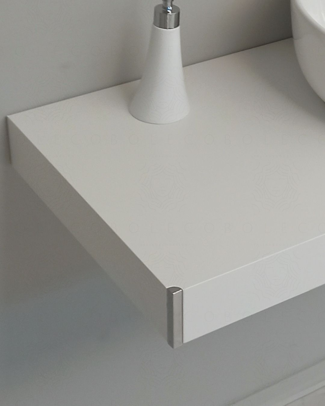 Mensolone bagno da cm.90, completo di staffe regolabili, lavabo