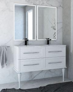 Mobile bagno sospeso Alba con lavabo in ceramica, cm.120