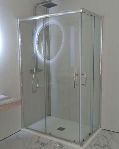 Box doccia rettangolare cristallo temperato 6 mm, cm.80x120