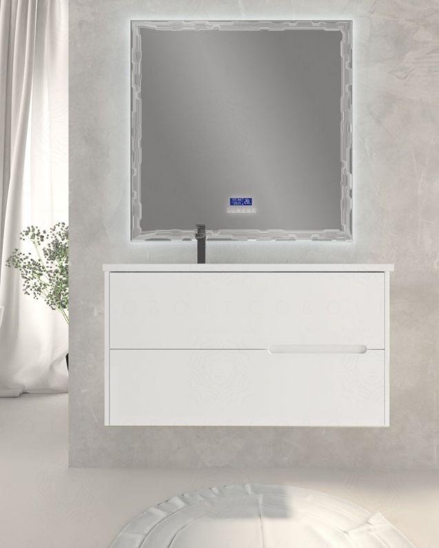 Mobile bagno sospeso Eos bianco opaco, cm.100