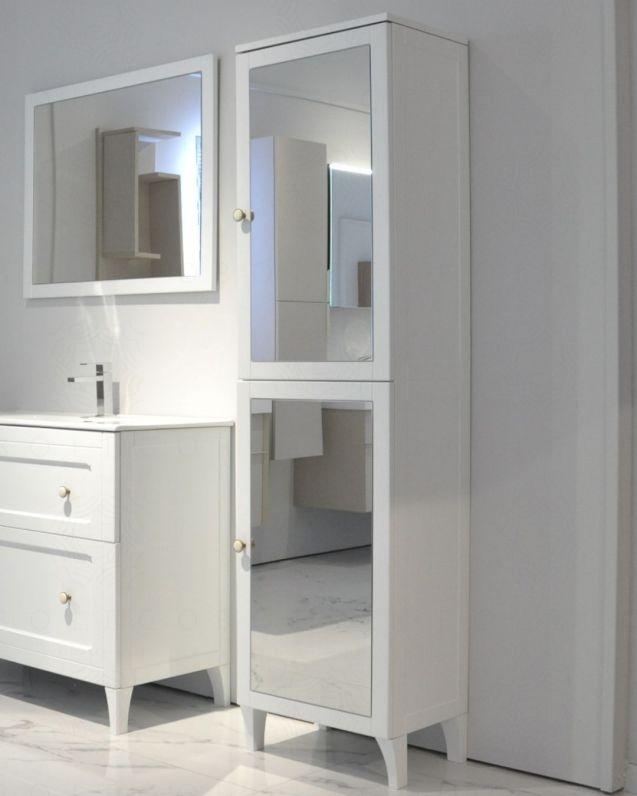 Colonna bagno Carlotta larice bianco cm.48x183