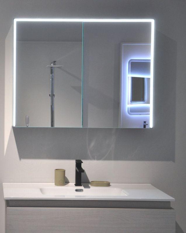 Specchio contenitore led con usb, presa ed accensione con