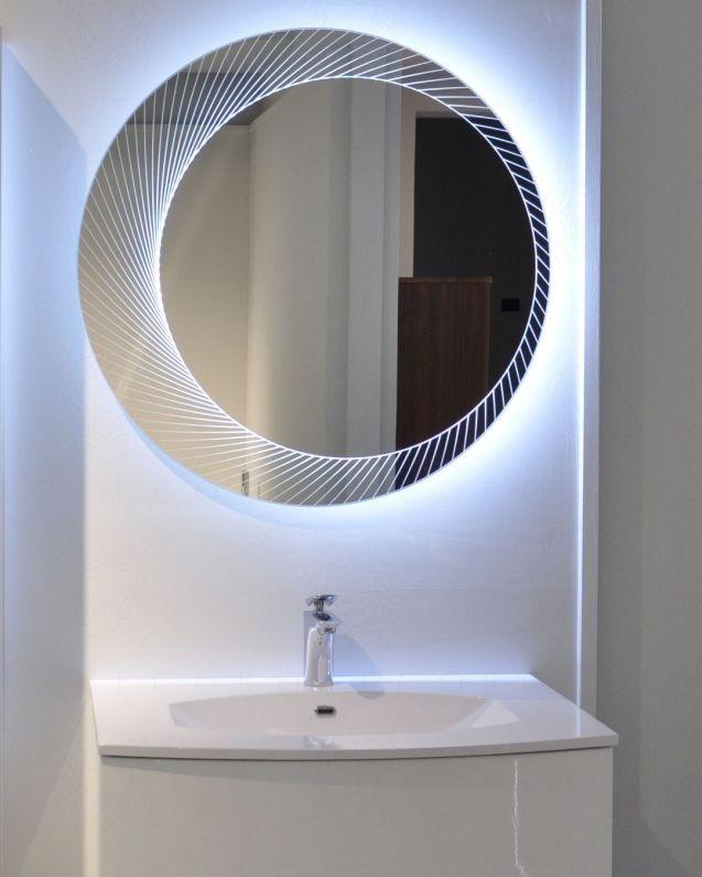 Specchio con led rotondo cm.80x80