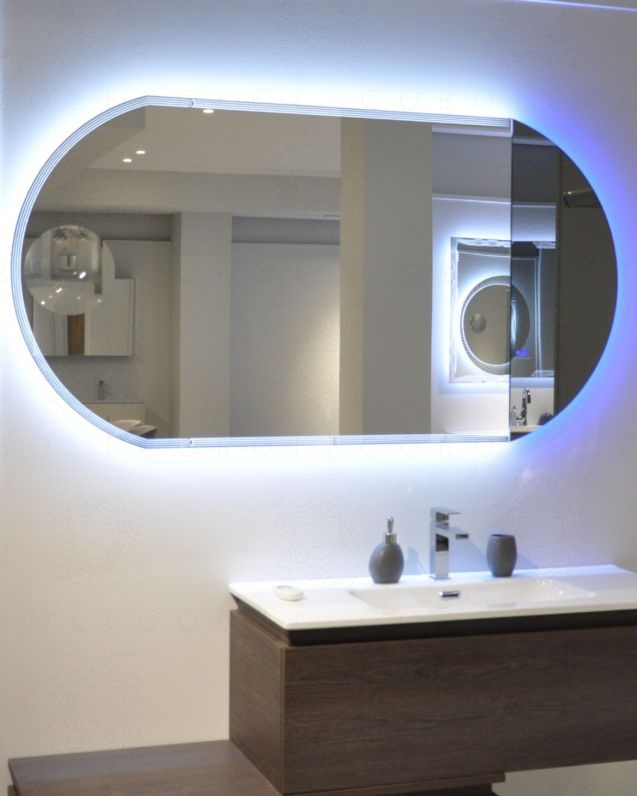 Specchio led con ingranditore, cm.120x80